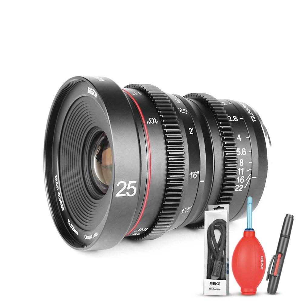 Meike MK 25mm T2.2 enfoque Manual asférica lente retrato para Micro cuatro tercios (MFT... M4/3) Monte Olimpo cámaras Panasonic