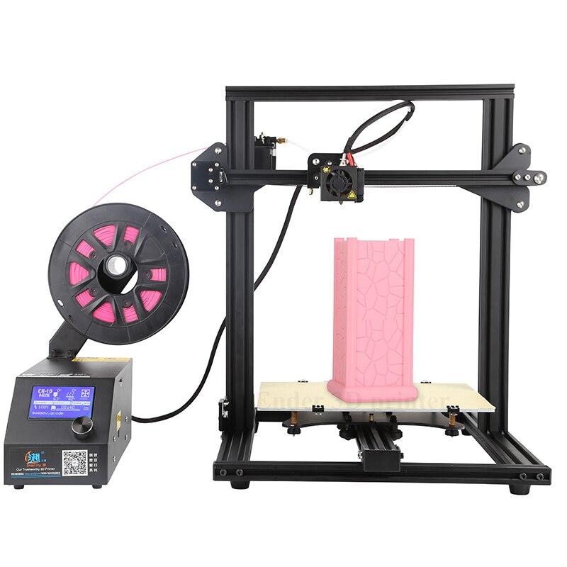 KIT de impresora mini 3D DIY de CR-10, tamaño de impresión grande 300x220x300mm, impresora de impresión de continuación, filamentos 3D y 200g + Creality 3D de Hotbed