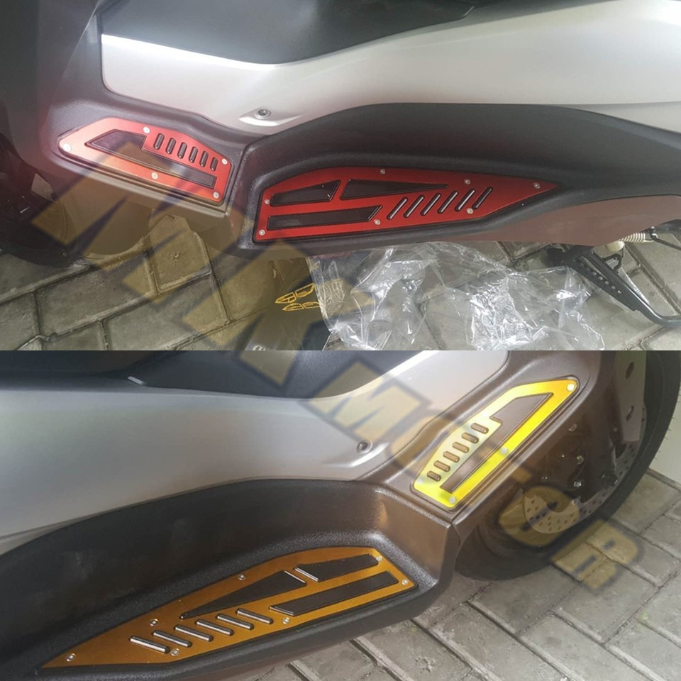 X-MAX 2018 piezas modificadas para motocicleta Yamaha XMAX 250 300 2017-2018 alfombrillas CNC reposapiés Placa de pedal de aleación de aluminio