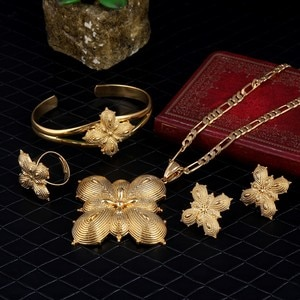 Sky talent bao Girls Ethiopian Jewelry Set 24k Gold GF Sets For African /Ethiopian /Eritrean /Habesha Jewelry Sets N B R E 4