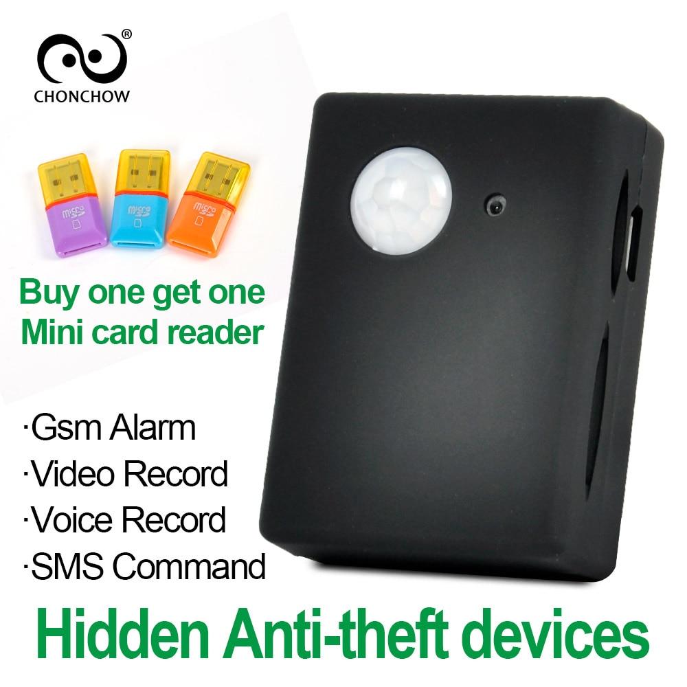 ChonChow Mini Gsm Pir Alarm X9009 FK-007X Wireless Infrared Camera GSM Tracker Autodial PIR MMS Spy Listening Device