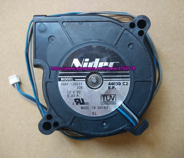 Brand New ventilador do projetor D06F-12B3S1 6025 cm 12 6 v 0.33A duplo rolamentos de esferas fã 3wires ~