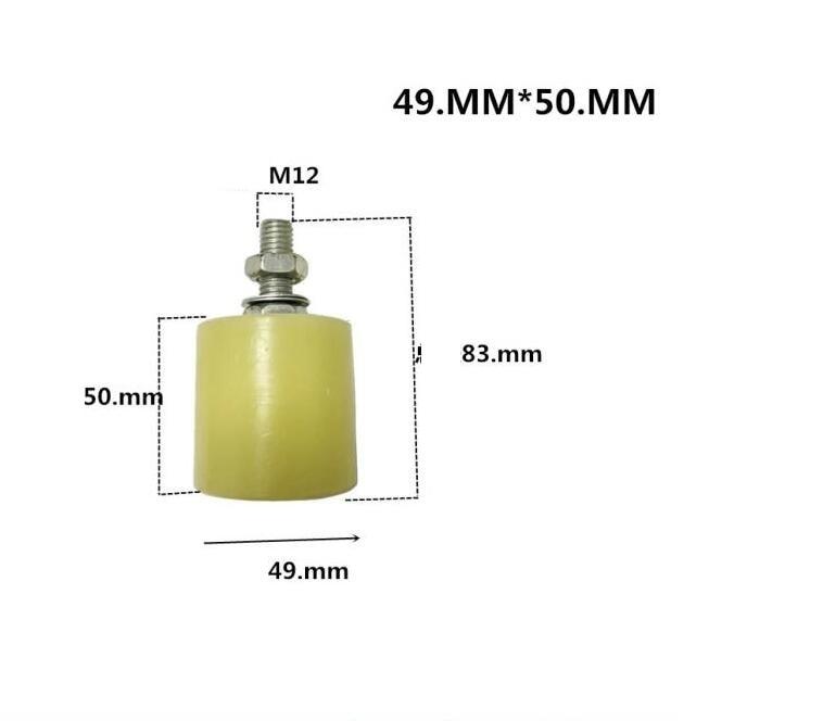 Rueda de guía de rodillos superior de nailon para puerta corredera de 49x50mm 2 uds por paquete
