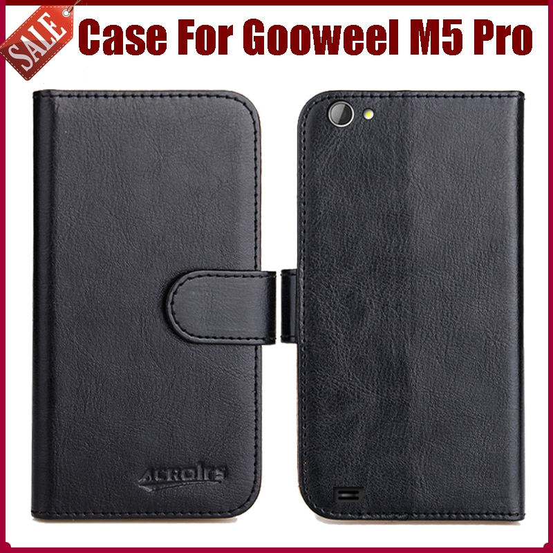Gooweel M5 Pro Case New Arrival 6 Colors High Quality Flip Leather Protective Cover For Gooweel M5 Pro Case Phone Bag