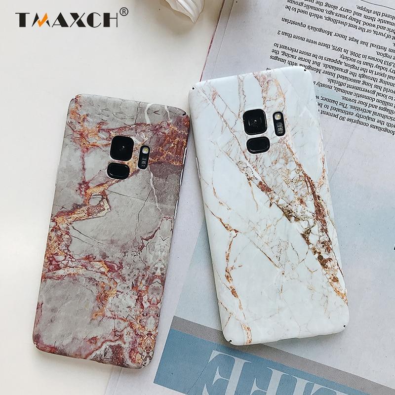 Винтажная мраморная наклейка, наклейка, основа, чехол для Samsung S7 Edge Galaxy Note8 9 S8 S9 plus, жесткий чехол для телефона с полным покрытием