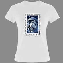 Hip Hop 1961 First Man In Space Yuri Gagarin T Shirt WoGirl Cotton O-neck Short Sleeve CCCP Funny T-shirts Cool Tees Tops
