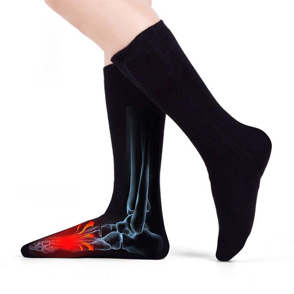 Теплые хлопковые носки с подогревом, спортивные лыжные носки, зимние теплые электрические согревающие носки с аккумулятором, зимние теплые...