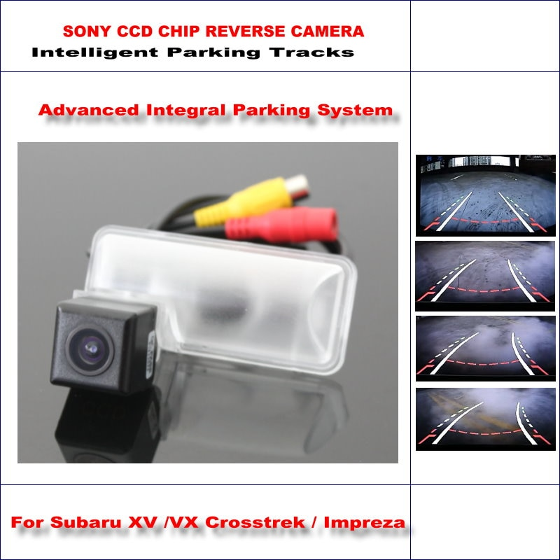Cámara de marcha atrás intelligentizada para Subaru XV/Crosstrek VX/Impreza 2011-2015 vista trasera de marcha atrás/pistas de guía dinámica