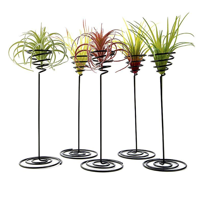 Creative Black Iron Air piñas planta base maceta soporte para maceta para el hogar balcón decoración del jardín suministros accesorios de paisaje