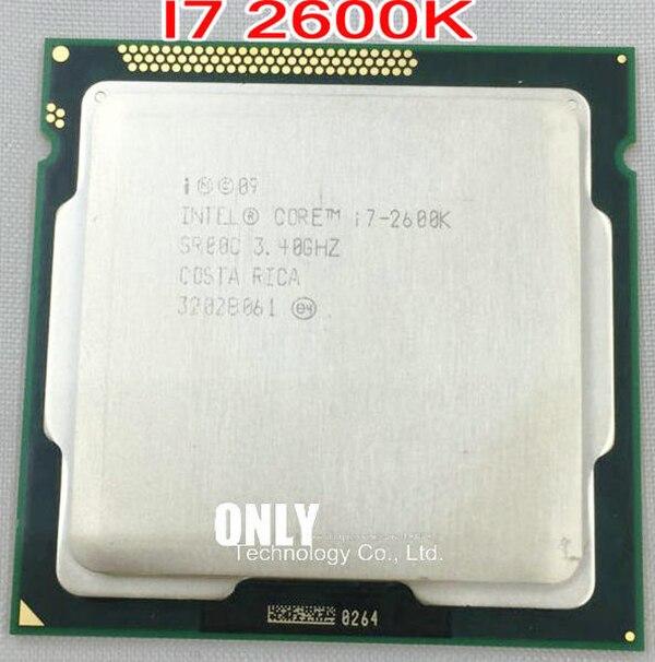 Оригинальный четырехъядерный процессор Intel Core i7 2600K 8M 3,4G 95W, 5GT/s SR00C LGA 1155, розетка, i7-2600K, бесплатная доставка