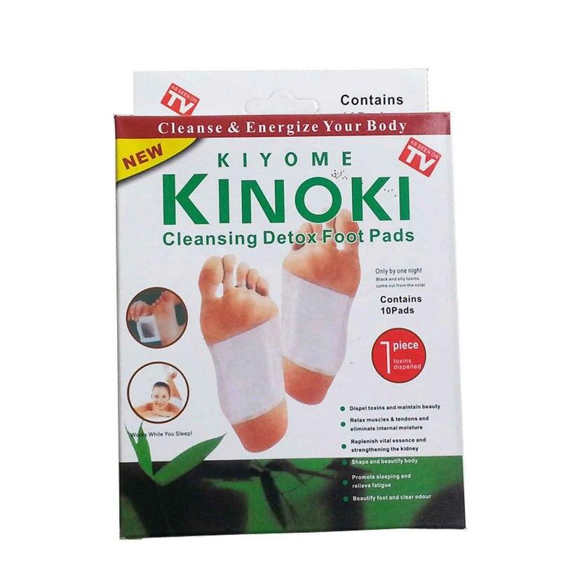 10 Boxes( 1 Box=10 PCS=5 Packs) Kinoki Detox Foot Pads Foot Patches Slimming & Detoxing Promote Blood Circulation And Sleeping