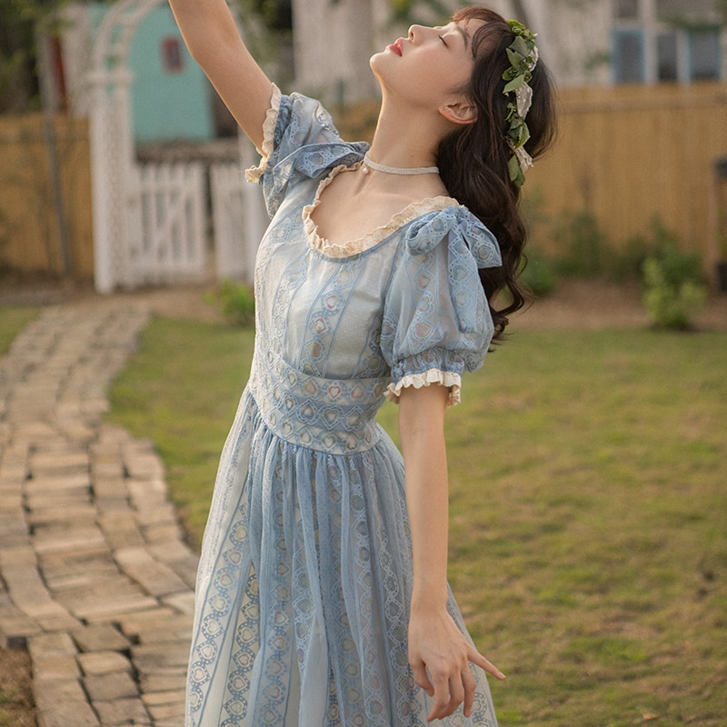 2019 nova moda feminina vestidos vintage vestido literário feminino verão popular slash neck laço