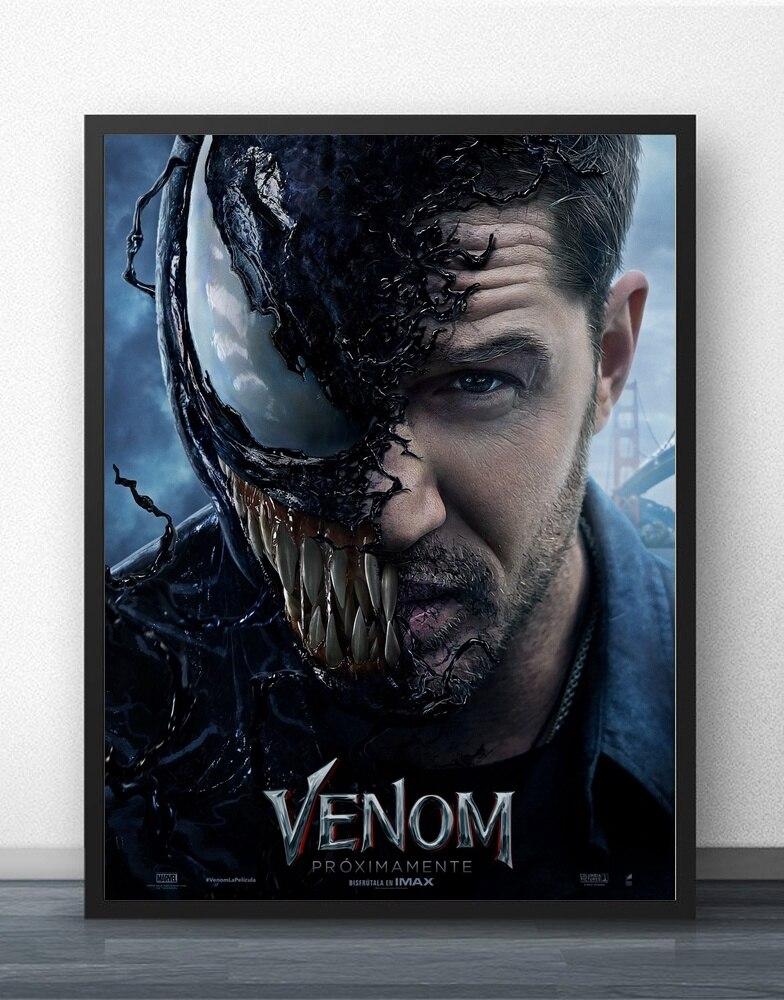 Venom Movie Tom Hardy 2018 Movie Wall Art Wall Decor Silk Prints Art Poster Paintings for Living Room No Frame