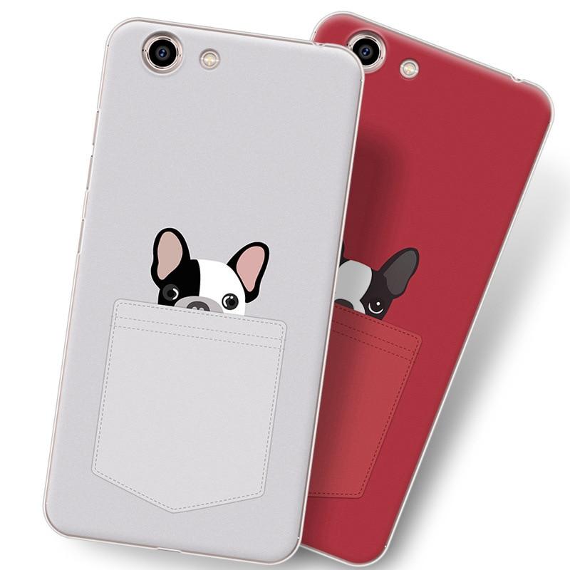 Чехол с рисунком Красной собаки для Gionee S10C/S10CL, чехол для мобильного телефона из ТПУ с рисунком милого мультяшного цвета. 10 цветов.