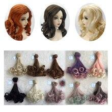 Mode 15*100cm bricolage Mini Tresses poupée perruque haute température matériau cheveux raides perruque pour BJD haute température poupée accessoires