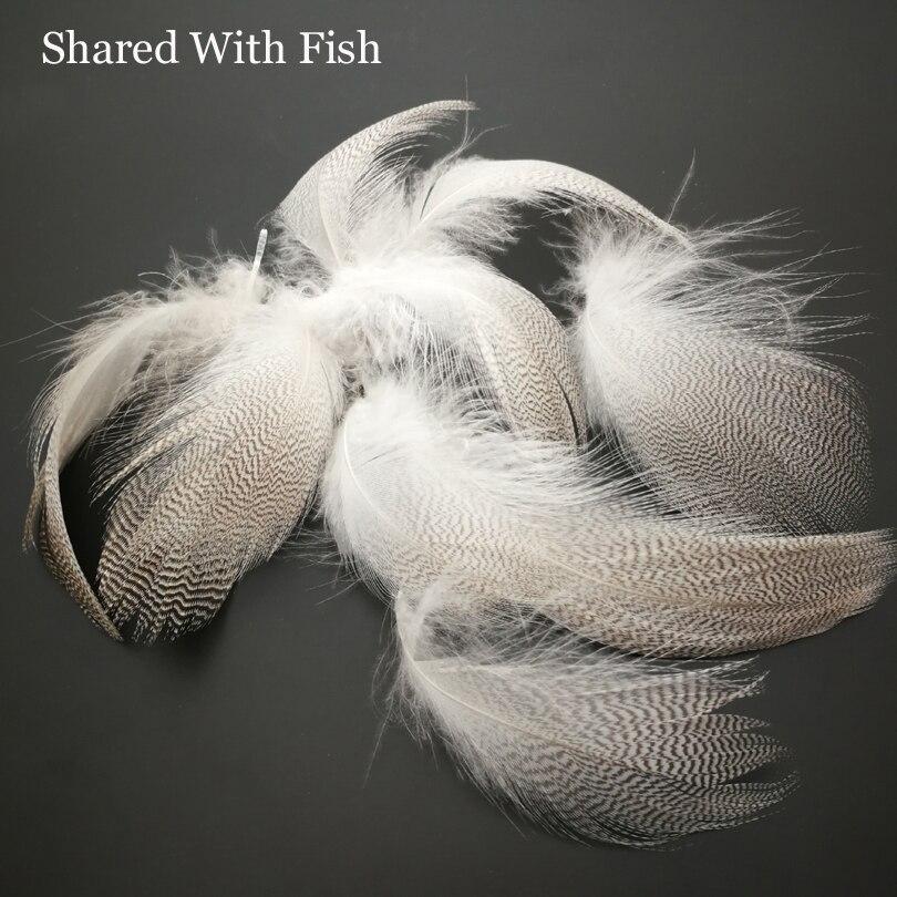 10 Stücke Natur Barred Stockente Ente Flanke Federn Wild Goose Haar für Fly Flügel Tails Streamer Fliegenbinden Material