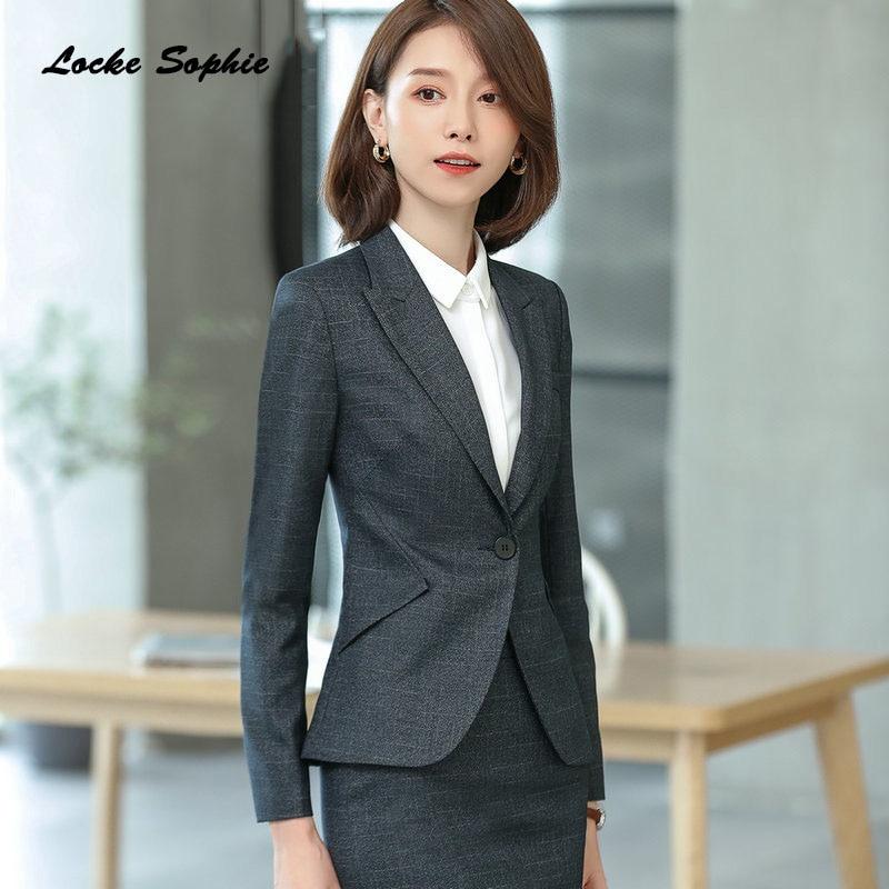 Women's Plus size Blazers coats 2020 Winter cotton blend Splicing Slim fit Small Suits jackets ladies Skinny Blazers Suits coats