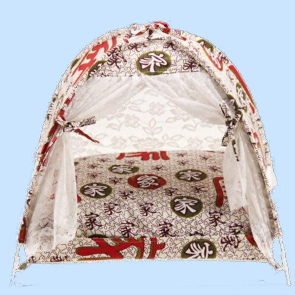 Camas de lona de algodón ligeras y flexibles para mascotas, camas para perros lavables y extraíbles, tienda resistente al Mosquito, almohada y Manta