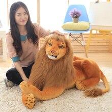1pc 30-90cm réaliste Lion en peluche jouets pour enfants enfants mignon Animal poupée dessin animé en peluche jouet anniversaire cadeau décor à la maison