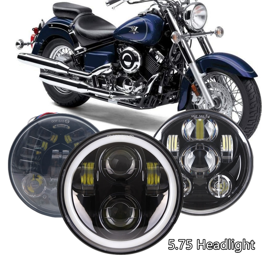 """DOT 5-3/4 """"5,75 LED faro para Yamaha v-star XVS 650 950 para motocicleta Bobber Cafe Racer 40W 45W 65W 80W faros"""