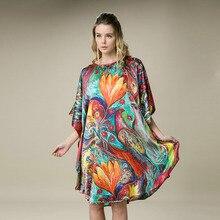 100% 실크 새틴 드레스 천연 멀 베리 실크 여성 드레스 플러스 크기 유기 패브릭 홈 드레스 공장 직접 도매