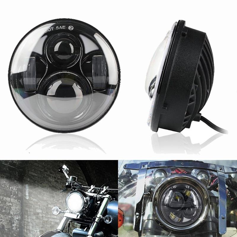 1 Uds 5-3/4 pulgadas faro 5,75 pulgadas proyector LED faro negro Hi/low haz conjunto actualización Kit exterior luz para motor
