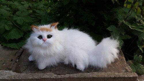 simulation 16x9cm prone cat model toy lifelike cat model ,home decoration gift t250
