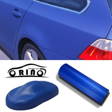 Größe 1,52x30 mt/Rolle Dark Blue 3D Carbon Fibre Vinyl Auto Wrap Film folie Mit Air Bubble Kostenlose 3D weiß Auto haut styling abdeckt