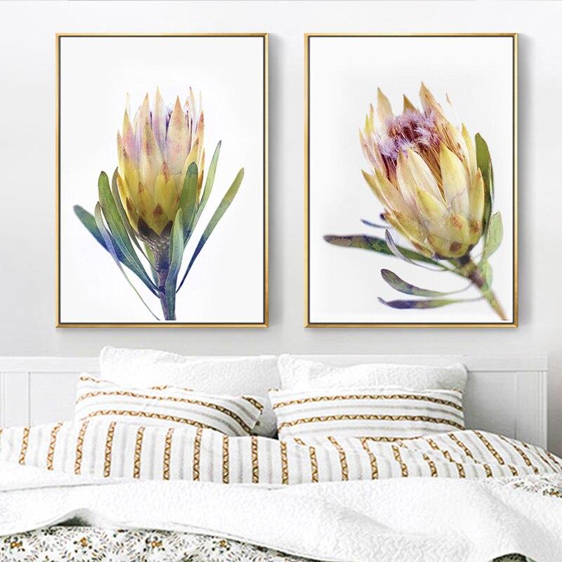 Flores românticas australianas poster flor amarela pintura em tela arte da parede flora hd posters e impressões fotos para sala de estar
