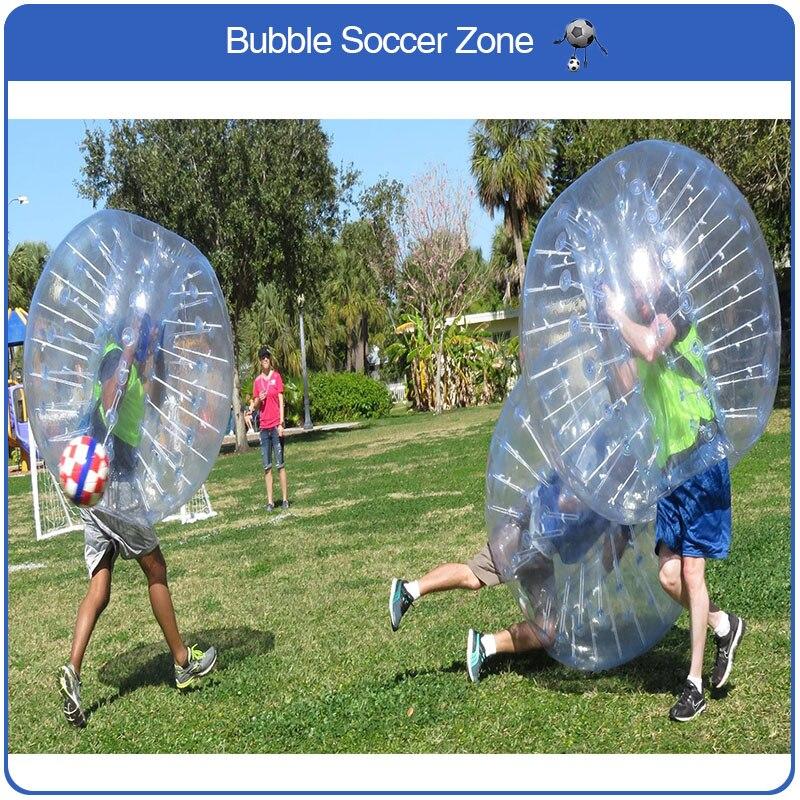 Envío Gratis burbujas de fútbol de PVC 1,5 M para adultos, Loopy Ball para Team Building, pelota de choque, Burbuja de fútbol inflable, Zorb para la venta