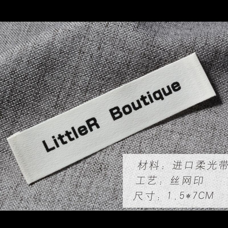 Custom High-Grade Printed Imported Satin cotton Material neck Label Printing Clothing Main Label wash label wash logo trademark main label main heading custom side label label custom embroidery