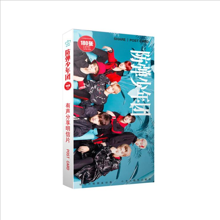 Kpop bangtan boys s fifth álbum bangtan love yourself a little sticker tarjetas 30 30 120 tarjetas compartir k-pop foto postal regalo