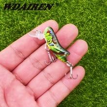 1pcs Insect Bionic Fishing Lure 45mm 3.5g Grasshopper Minnow Hard Baits Squid Artificial Swimbaits Bass Carp Pike Fishing Tackle