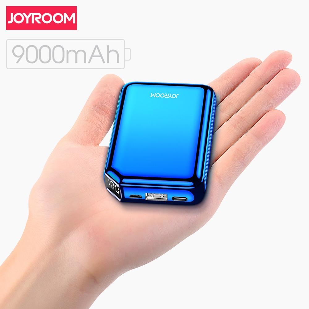 Joyroom 9000 mah power bank 5 v 3.1a carregador rápido led tipo-c porta usb bateria externa powerbank para iphone samsung huawei