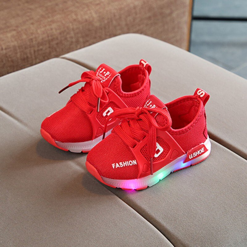 Flash Led para niños, zapatos transpirables ligeros, zapatos LED de moda para niños, zapatillas informales, zapatos casuales para niños de 1 a 3 años