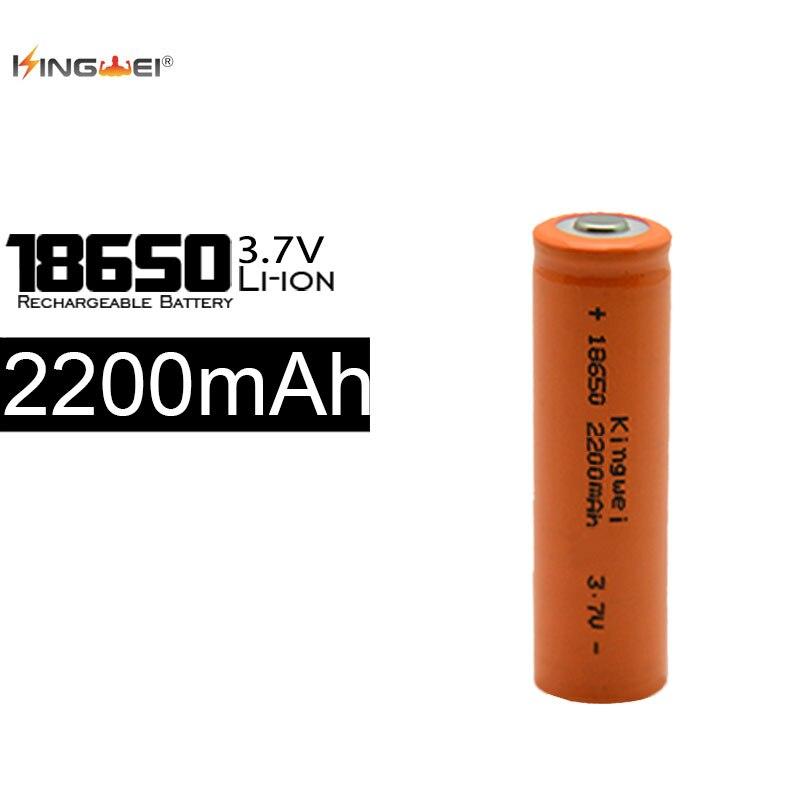 KingWei 100 unids/lote capacidad 2200mah 18650 3,7 V batería recargable de iones de Litio para linterna Led faro juguetes batería Litio