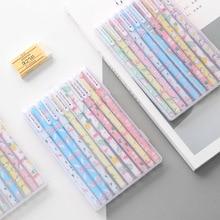 10 pcs/pack Wonderful Flamingo Unicorn Animals Colored Gel Pen Ink Pen Promotional Gift Stationery School & Office Supply