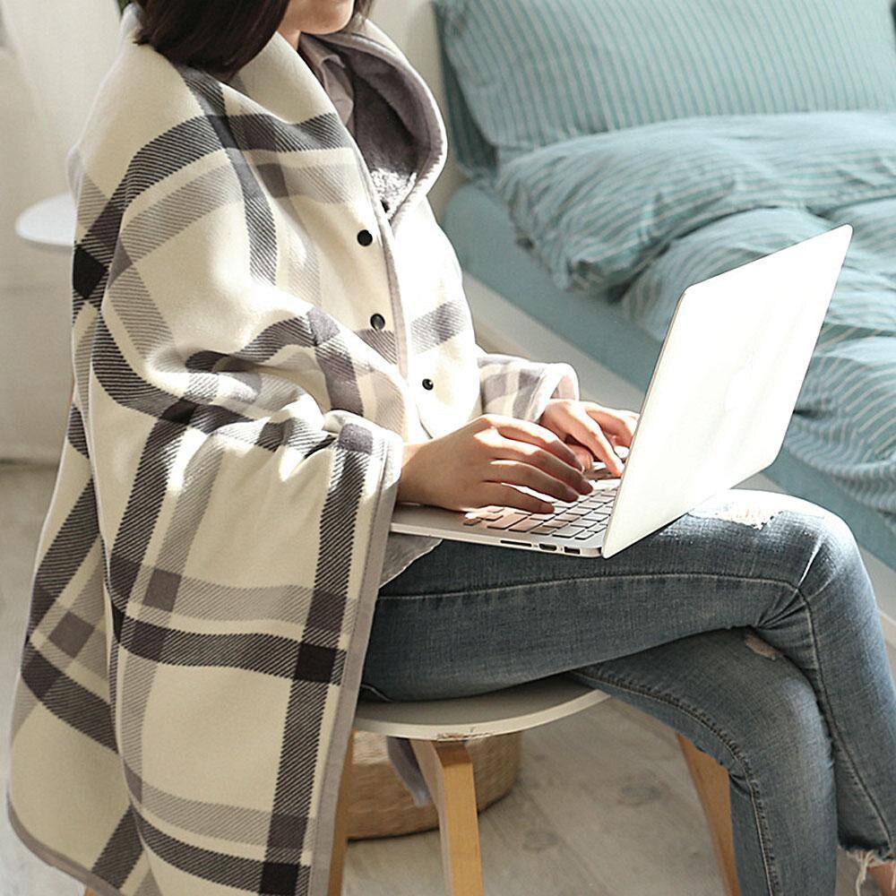 Señora multifunción doble tartán manta bufanda abrigo chal invierno cálido mujer Foulard chales