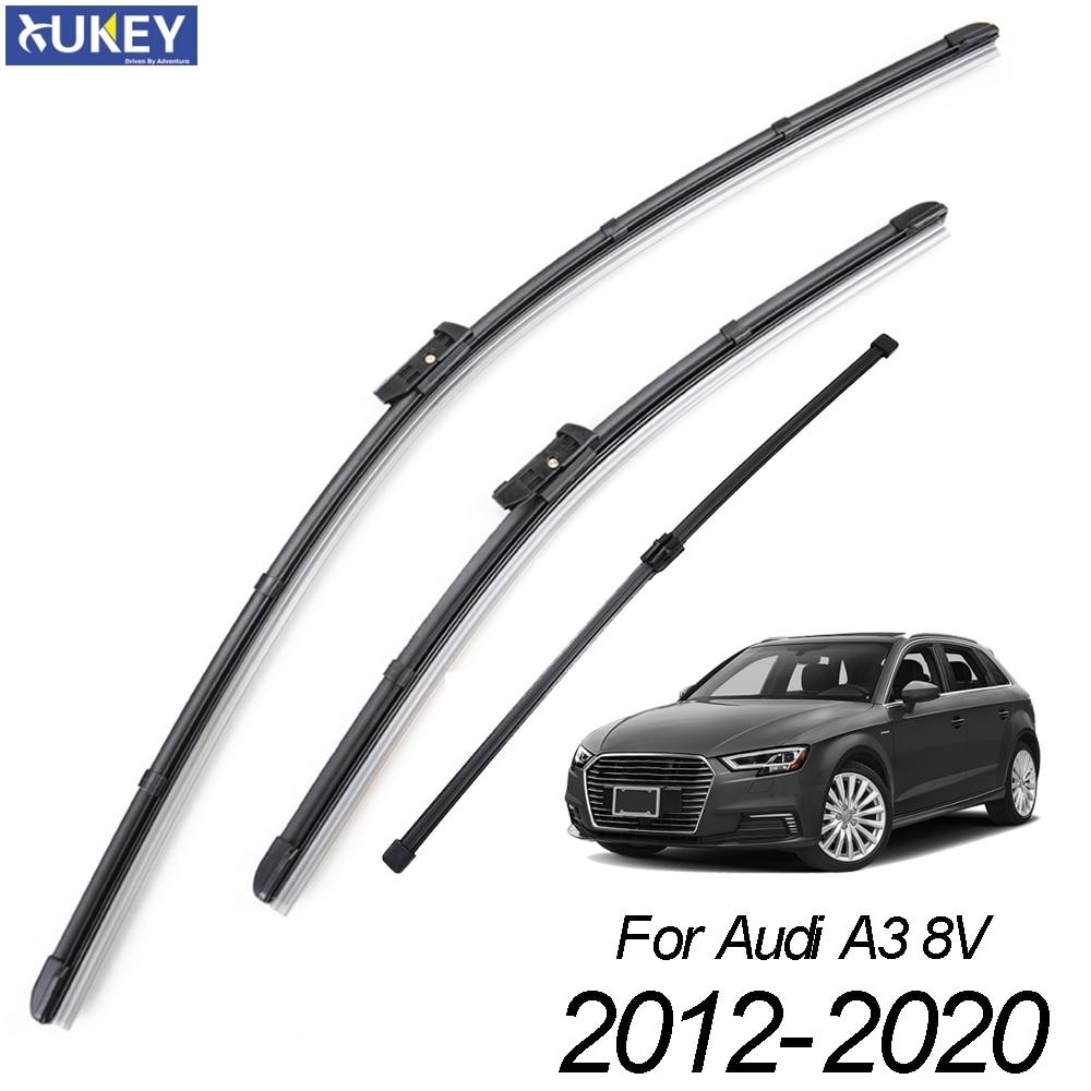 Xukey 3Pcs/set Front Rear Windshield Wiper Blades Set For Audi A3 S3 8V Sportback 2020 2019 2018 2017 2016 2015 2014 2013 2012