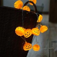 1M 2M 3M à piles Halloween citrouille led chaîne lumières Halloween vacances fête de noël jardin décoration lanternes lumière