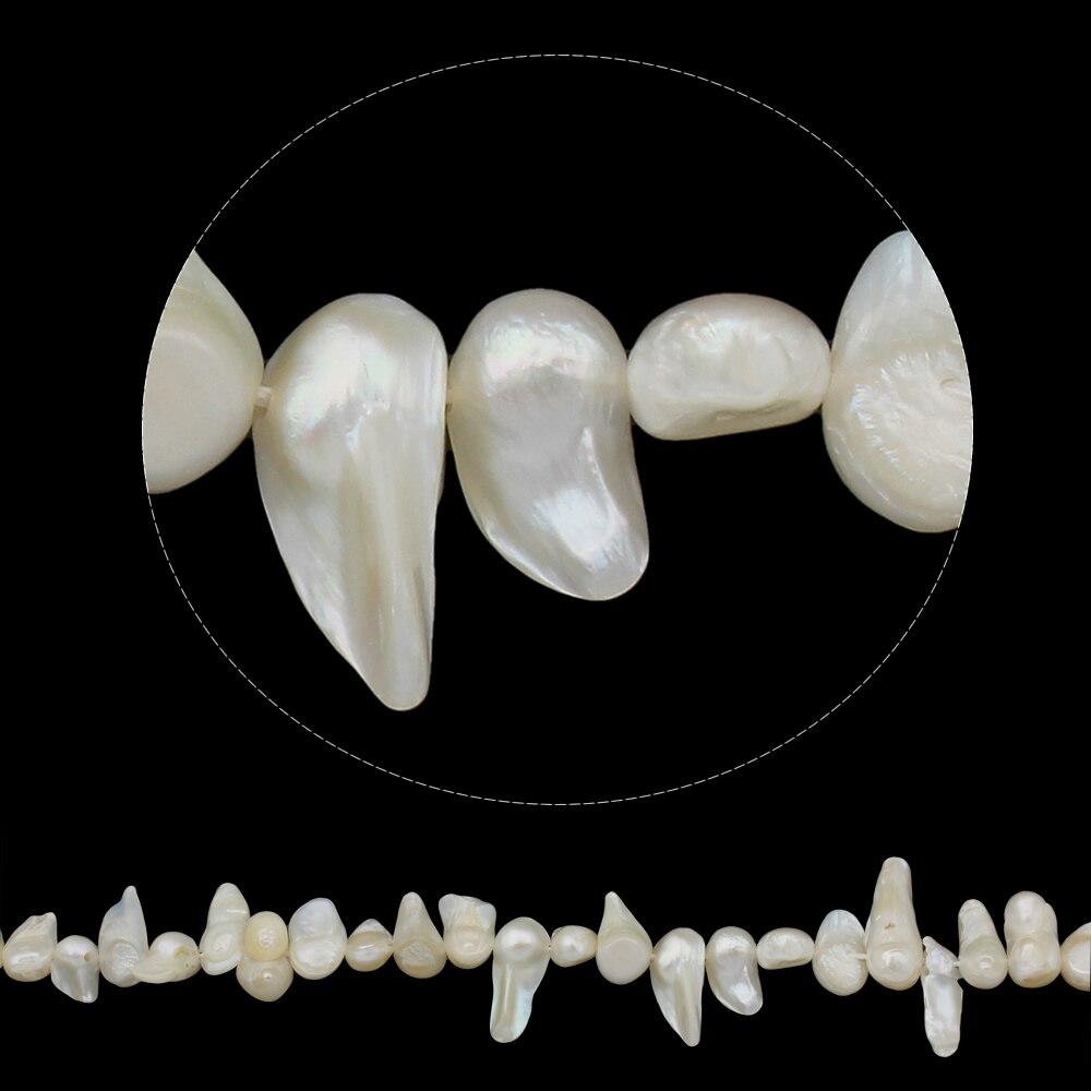 Keishi Cultivadas de água doce Pérola Beads para fazer Jóias diy colar Pulseira natural, branco, 10-28mm Aprox 15.7 Polegada Vertente