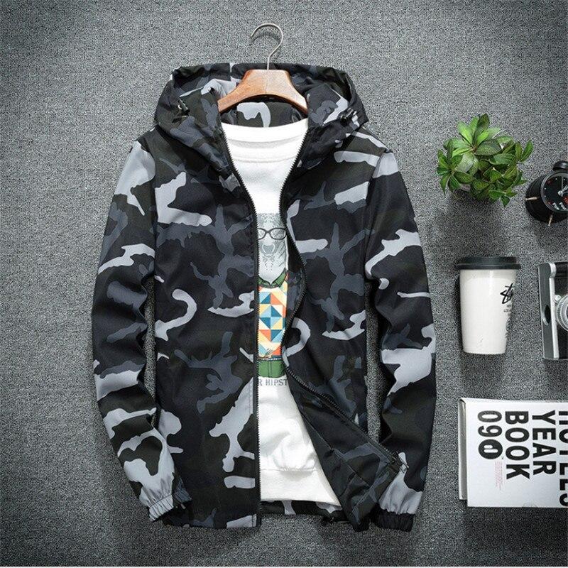 Chaquetas de hombre de primavera y otoño, abrigos con capucha militares de camuflaje, cazadora con cremallera informal para hombre, ropa de marca para hombre
