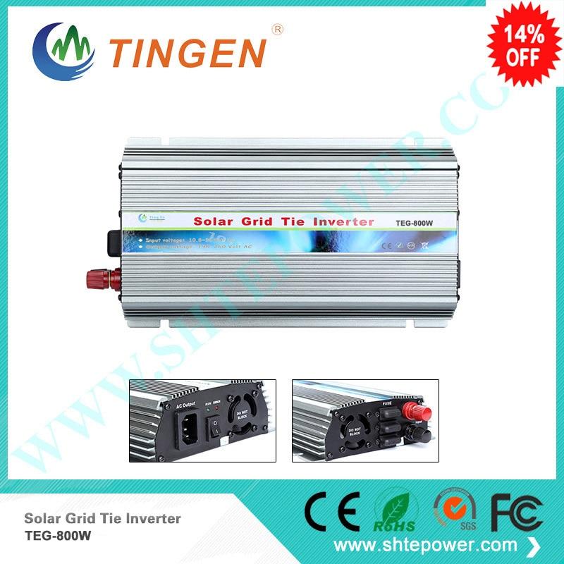 Nuevo Producto inversor solar para inversor on grid tie convertir DC 10,8-28 V a 110V 220V AC salida MPPT 800W