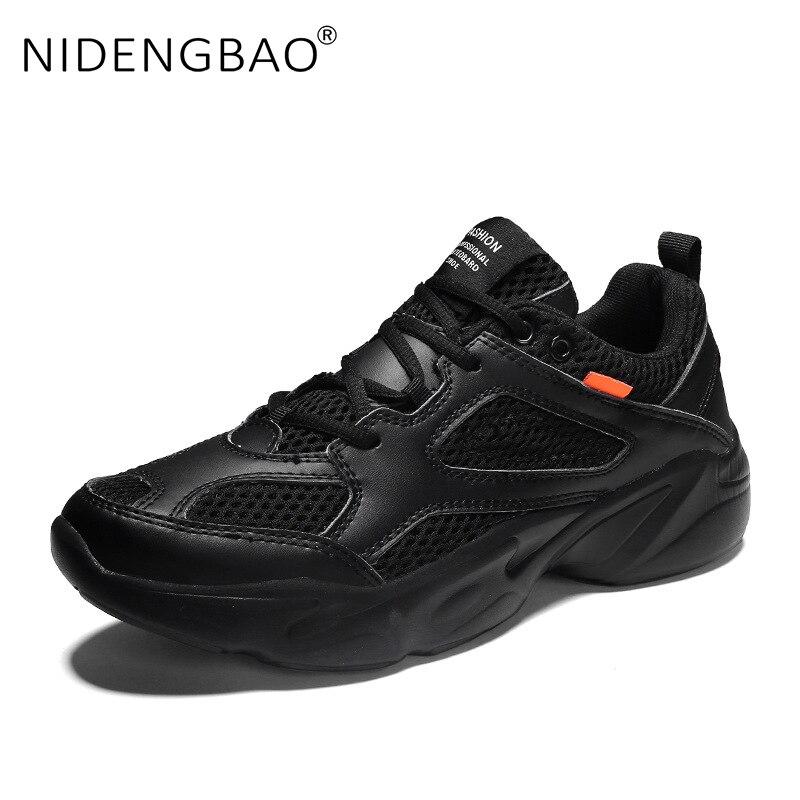 Купить с кэшбэком Hot Sale Men Sneakers  Big Size Lightweight Breathable Mesh Running Shoes Outdoor Sport Shoes Male Walking Footwear