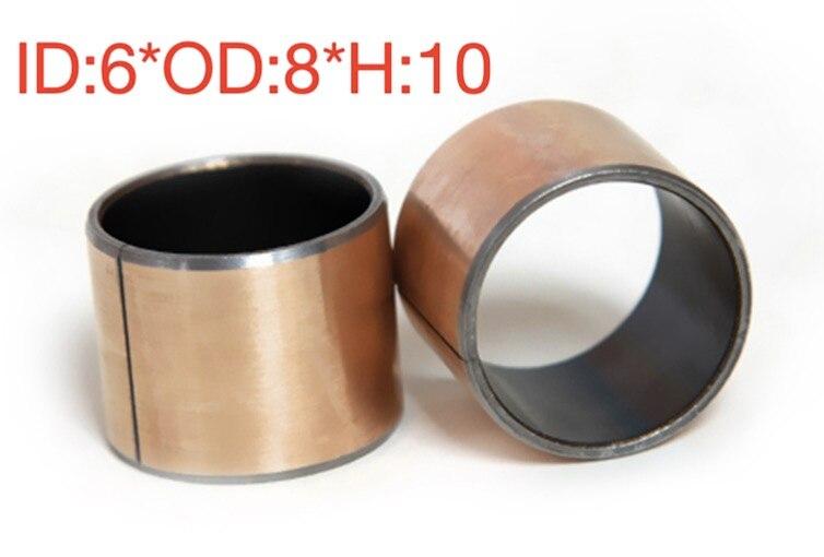 6*8*10 MM -- 30 unids/lote rodamientos de deslizamiento sin aceite casquillo de bronce de manga de cobre SF-1