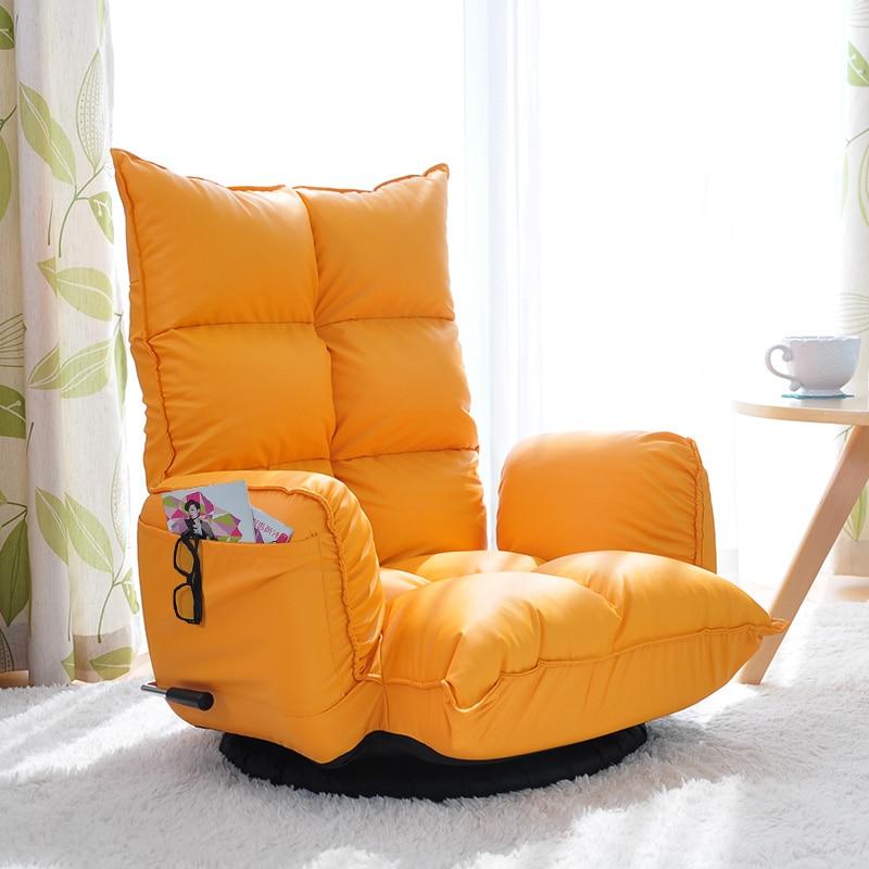 Складной Многофункциональный регулируемый вращающийся стул, диван, 360 градусов, поворотный, современная спальня, спинка, складной напольный стул, кожа
