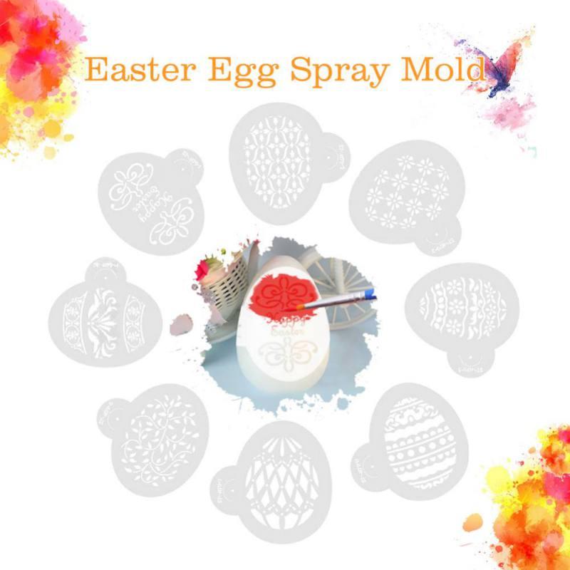 Plastic Cake Stencils Easter Eggs Stencils Birthday Cake Mold Decorating Bakery Tools DIY Mould Fondant Template Dessert Tools