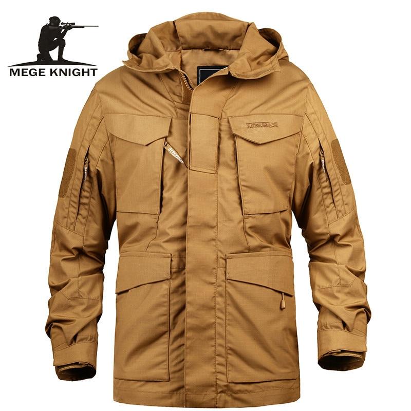 Marca Mege, ropa táctica para hombres, Ejército de EE. UU., M65, chaqueta de campo militar, gabardina, gabardina, Sudadera con capucha, Masculino, rompevientos para hombres, otoño