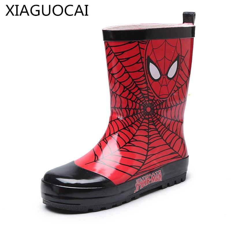 2018 novas chegadas crianças botas de chuva meninas meninos crianças longas botas de chuva adicionar algodão quente desenhos animados sapatos de borracha à prova d27 10