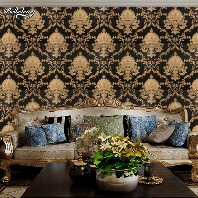 Beibehang e branco clássico casa decoração tv fundo papel de parede vinil método pvc brocado rolo sala peint